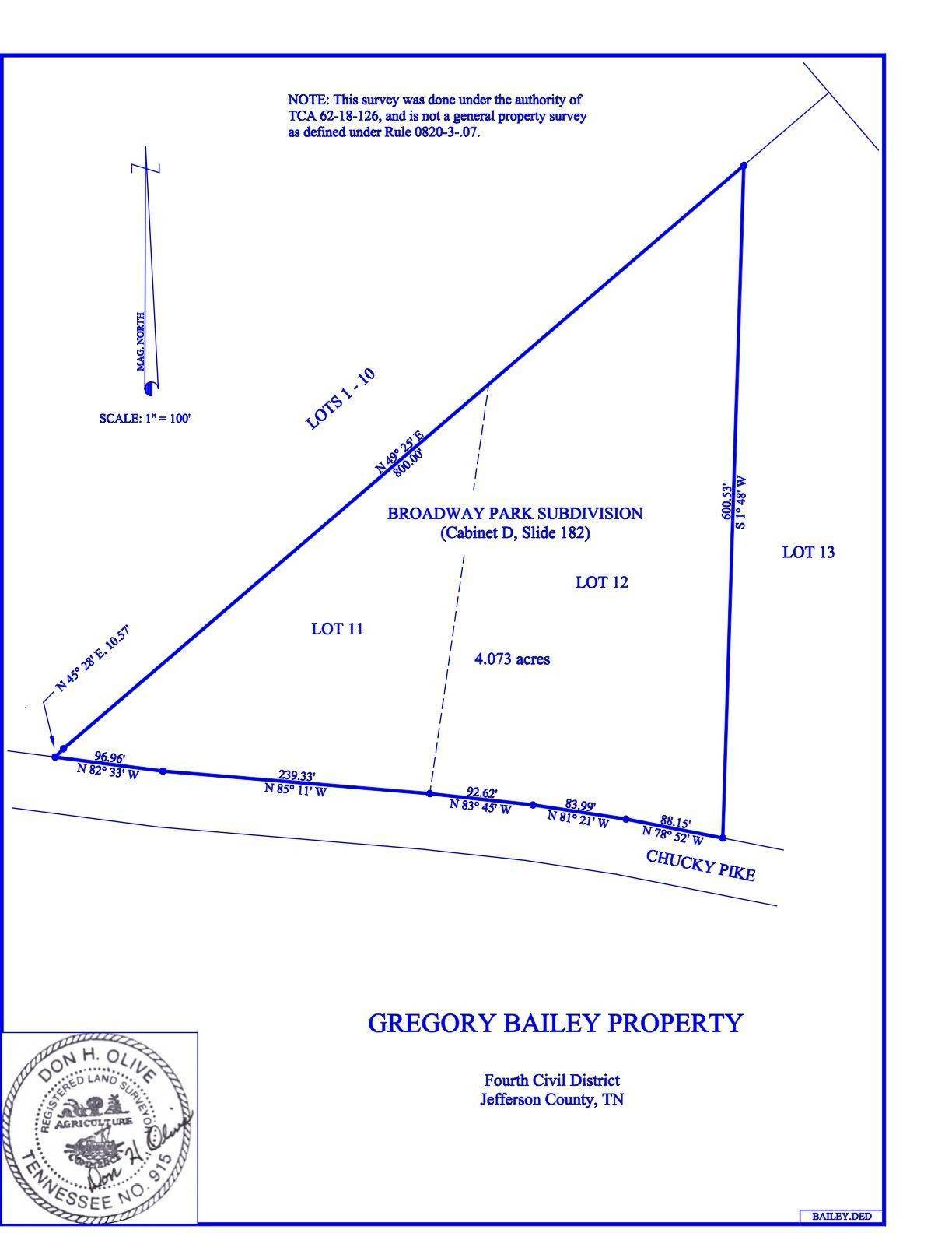 Land for Sale at 1050 N Chucky Pike Jefferson City, Tennessee 37760 United States