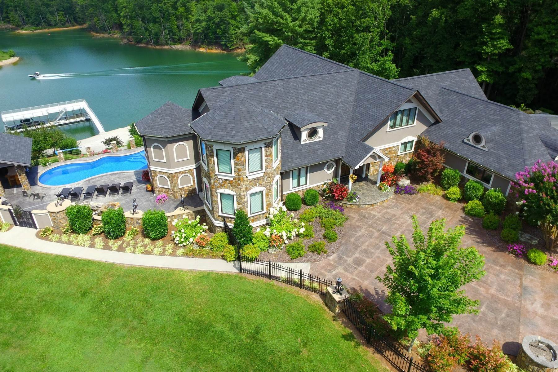 Single Family Homes for Sale at Water Front Estate On Watauga Lake 381 Big Oak Drive Butler, Tennessee 37640 United States