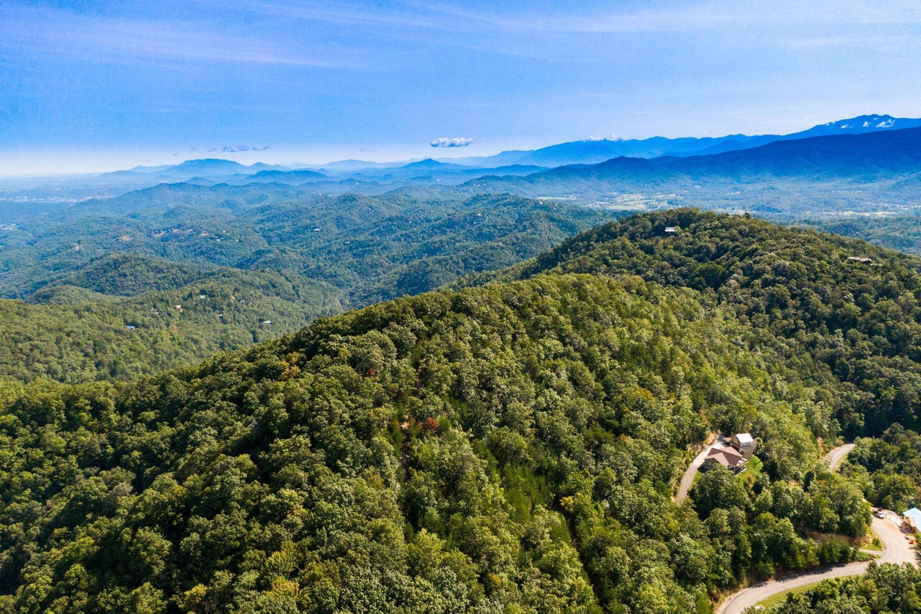 Land for Sale at Panoramic Mountain Views & Privacy Settlers View Lane Lot 126E,127E, Shagbark Lot Sevierville, Tennessee 37934 United States